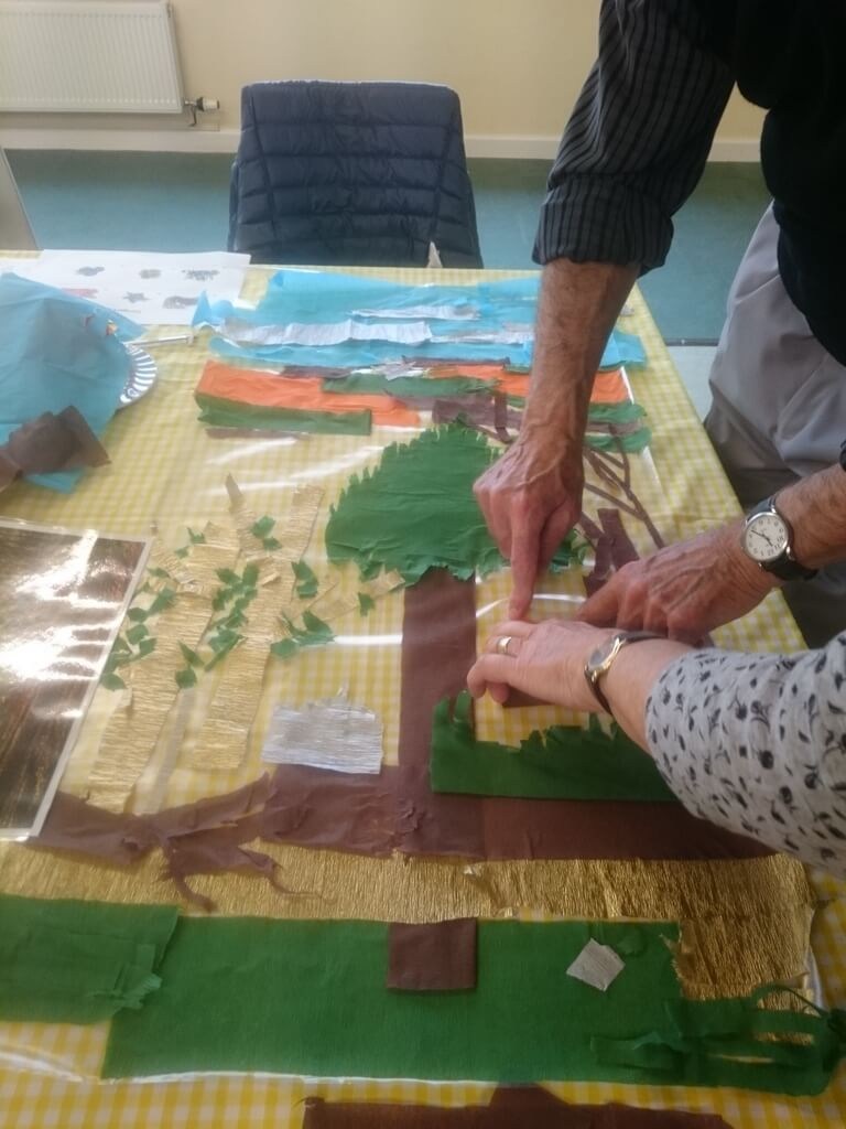 Chard memory café art workshop at Ferne Animal Sanctuary