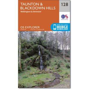 Ordnance Survey map 128 Taunton & Blackdown Hills