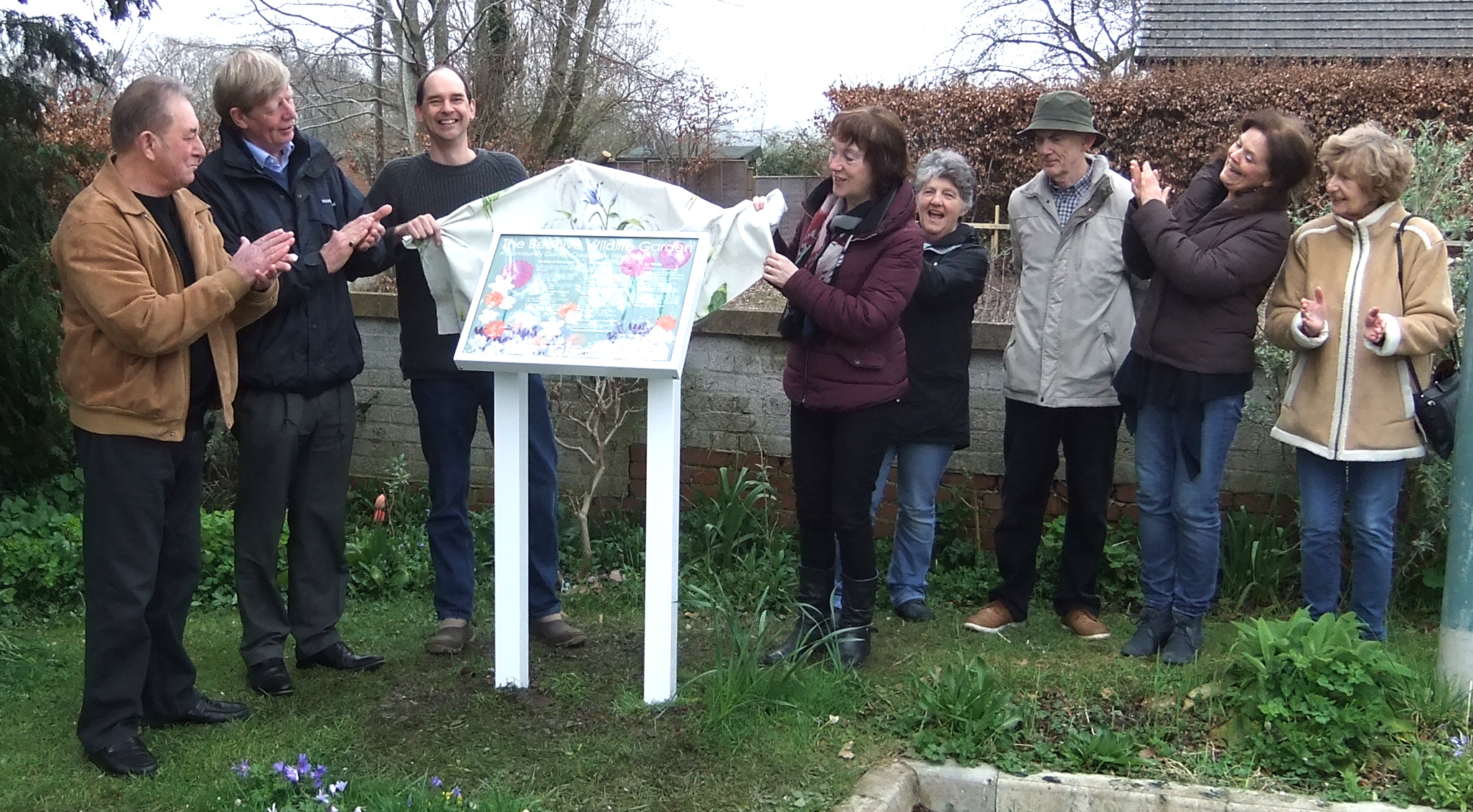 Display board is unveiled at the Beehive wildlife garden