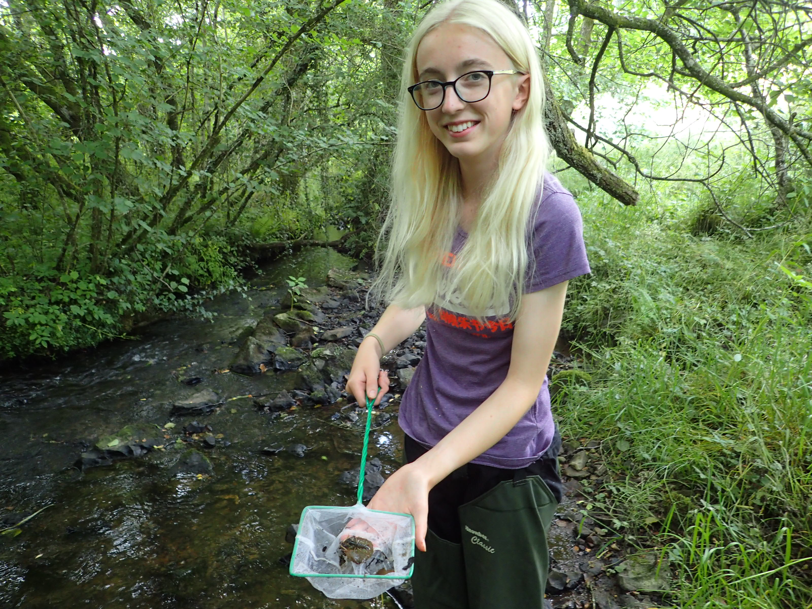 Lara Drew, Work Experience Placement, Culm Community Crayfish project