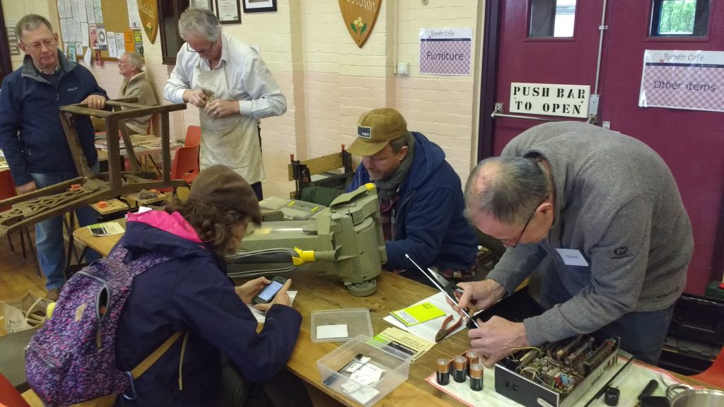 People repairing items at Blackdown Hills Repair Cafe