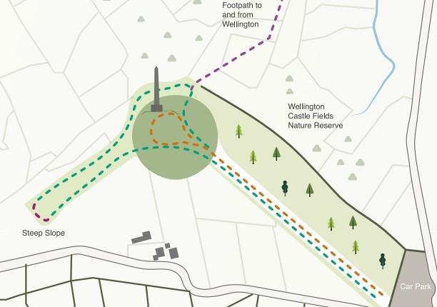 Wellington Monument Meander map