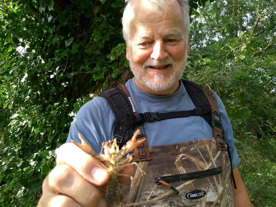 Bruce Payne with crayfish
