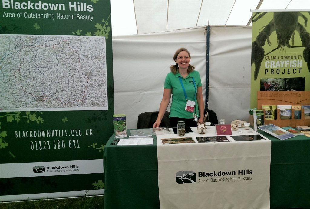 Blackdown Hills AONB stand at Honiton Show 2018