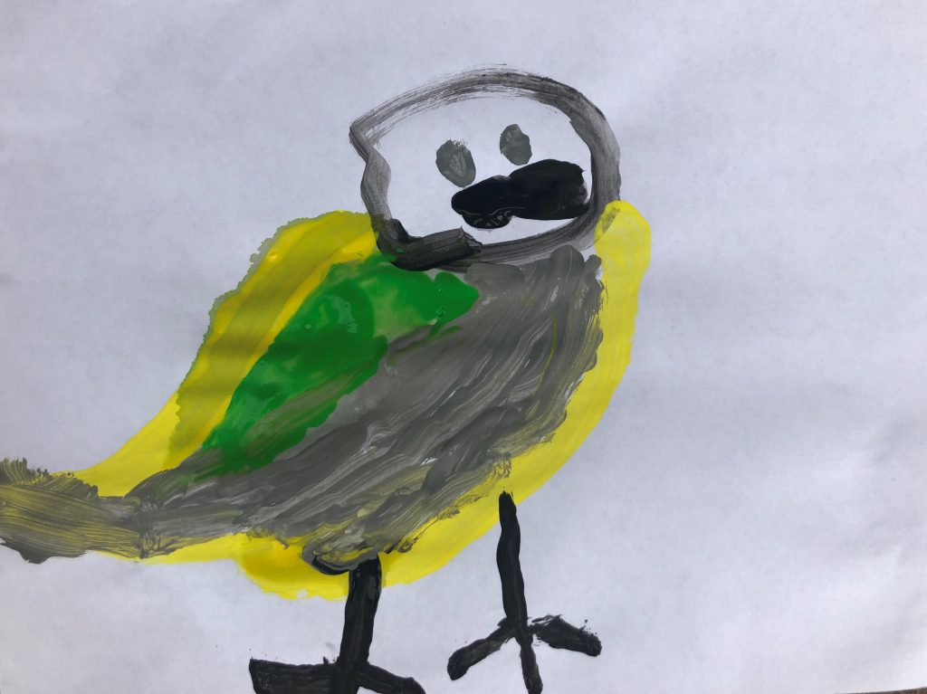 Great tit painting by Ezra