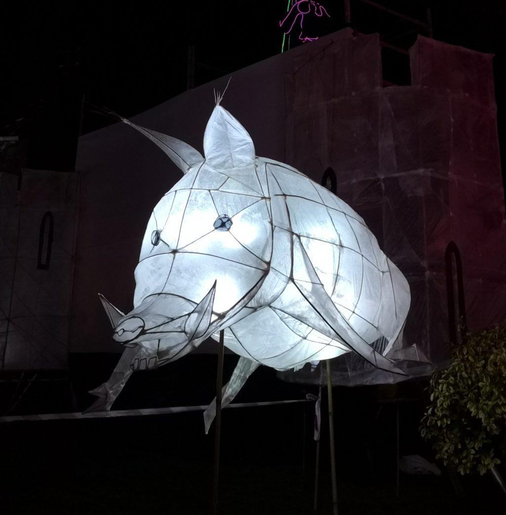 Lantern in the shape of a wild boar
