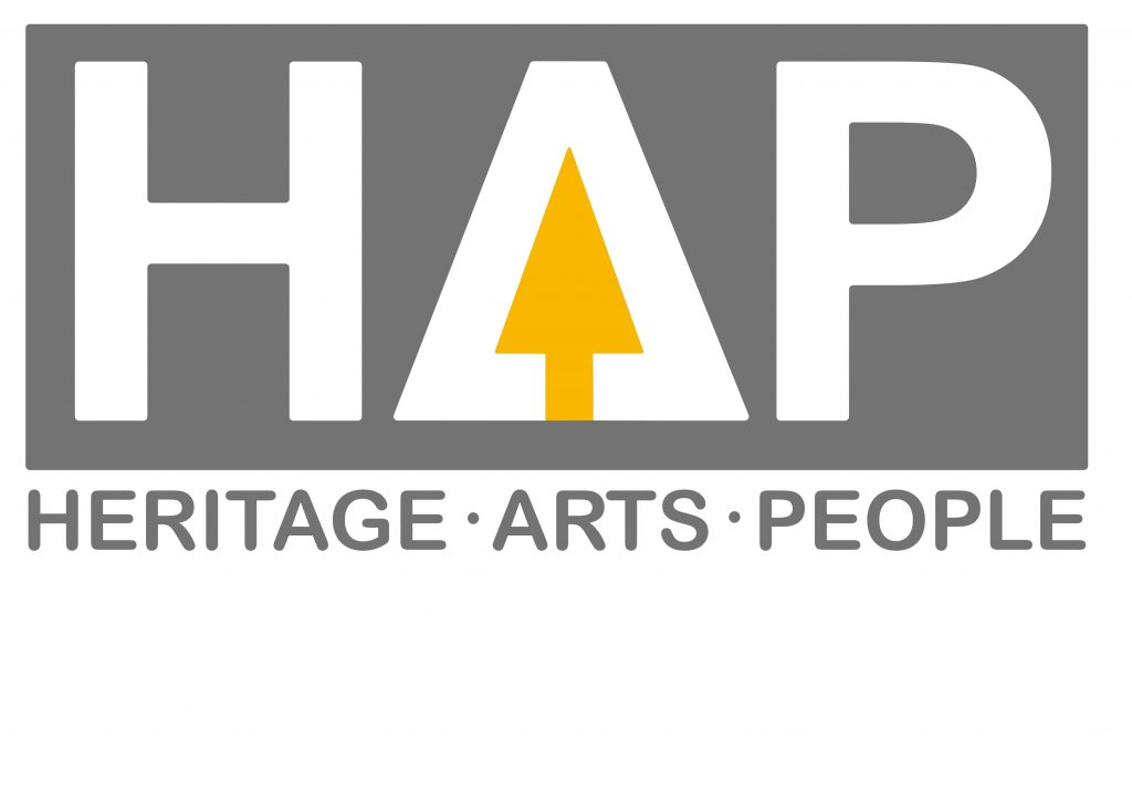 HAP Heritage Arts and People logo