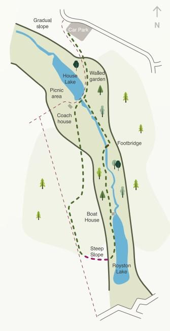 Otterhead Lakes walk map